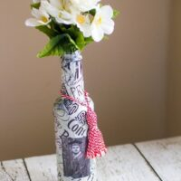Graduation Vase DIY Craft Trash to Treasure