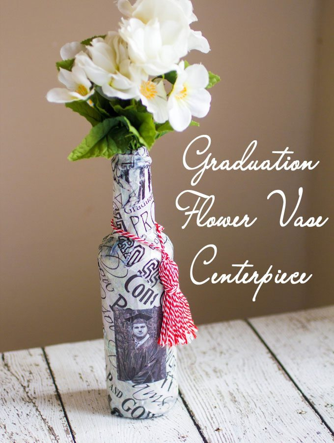graduation flower vase craft