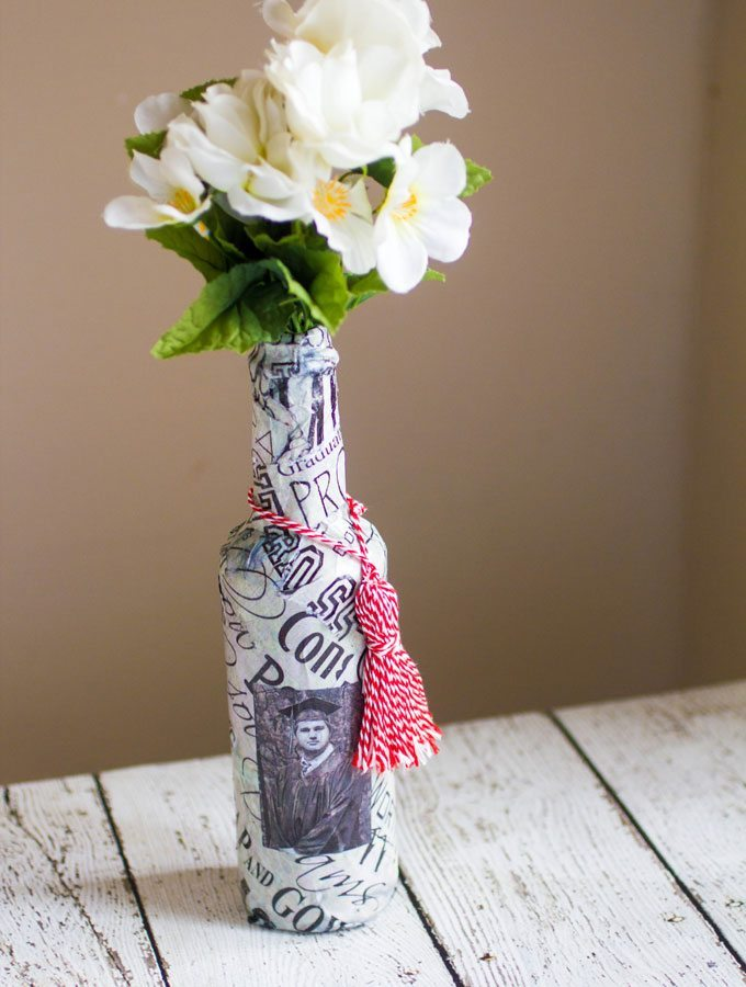 DIY Graduation Vase Craft
