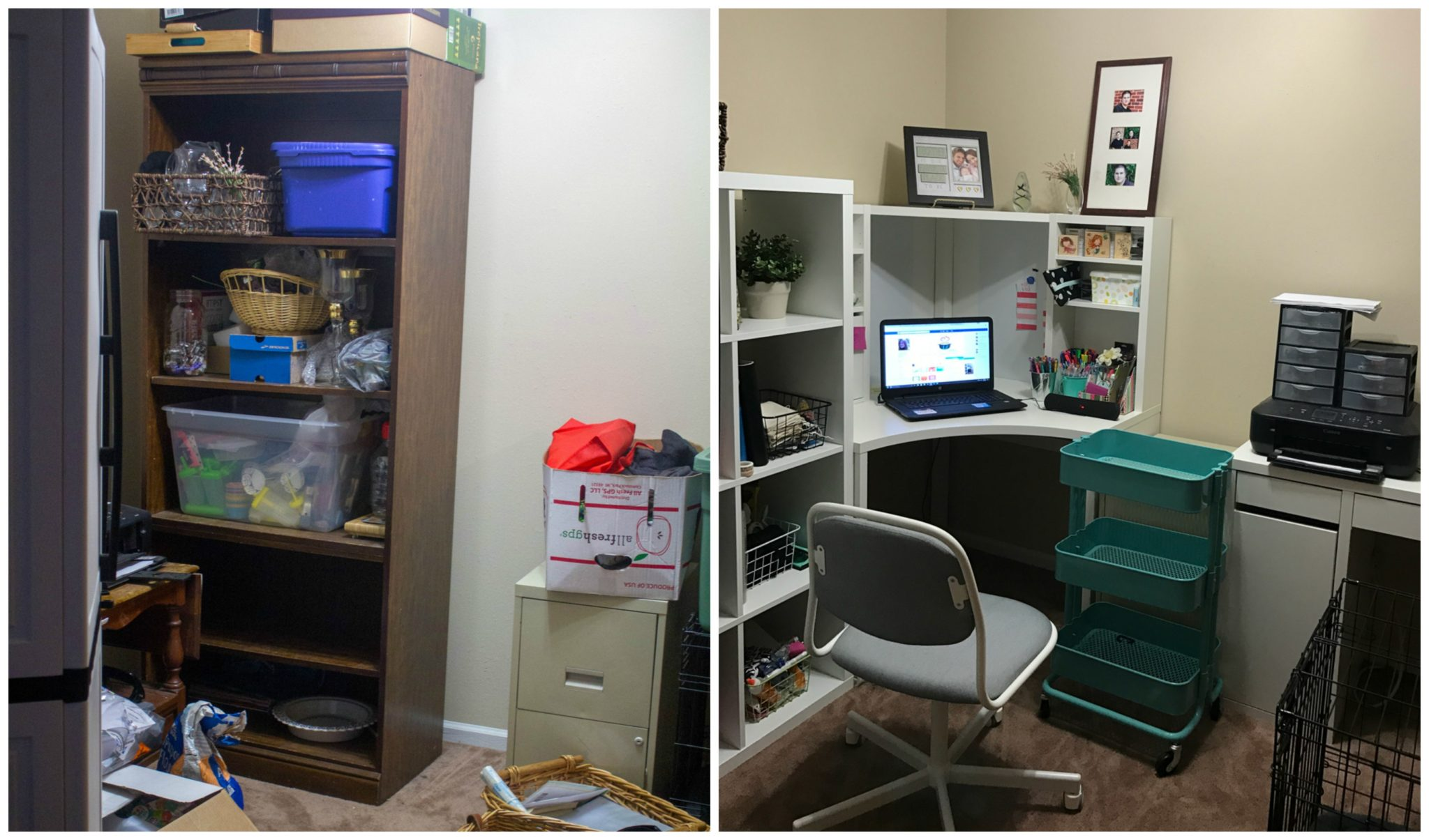 Before and After Office Makeover