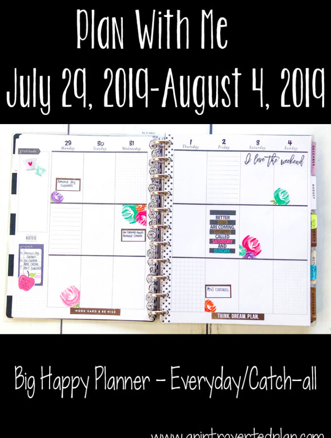Plan with Me Big Happy Planner July 29-August 4